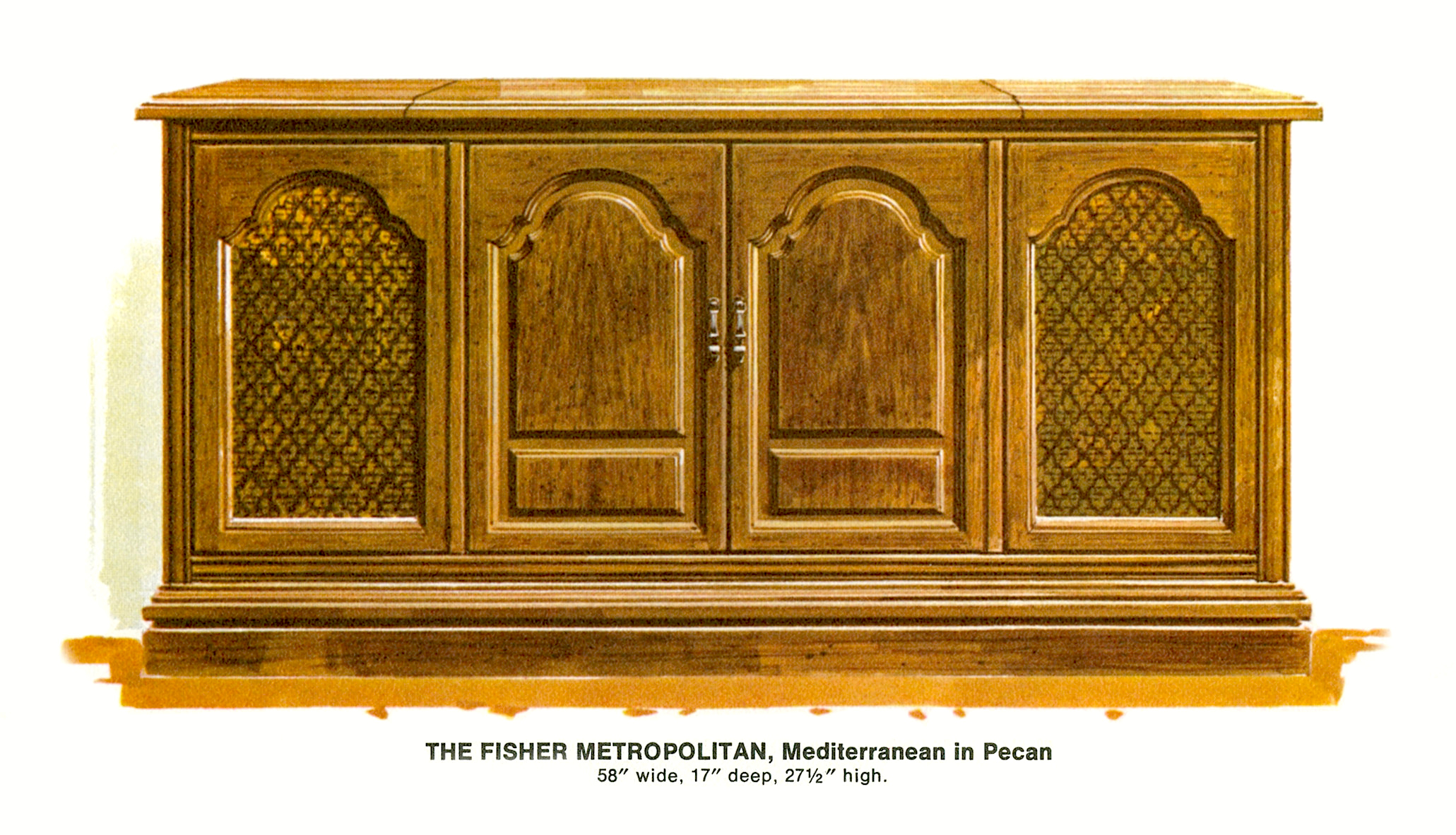 1967 Fisher M-4592-MD Metropolitan Mediterrenean Console